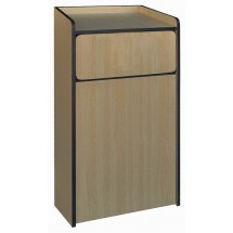 Winco WR-35 Waste Receptacle Enclosure with Tray Top 35 Gallon