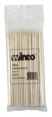 "Winco WSK-06 Bamboo Skewers 6"" - 100 pcs"