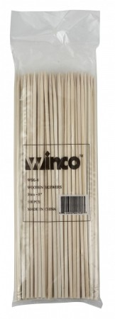 "Winco WSK-08 Bamboo Skewers 8"" - 100 pcs"
