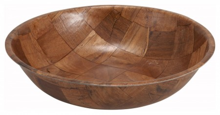 "Winco WWB-16 16"" Woven Wood Salad Bowl"