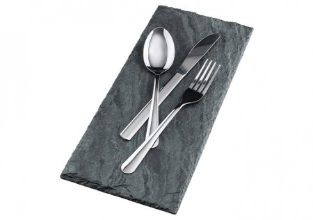 Winco Windsor 5-Piece Heavy Weight Flatware Set - Service for 12