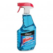 Windex Glass Cleaner with Ammonia-D, 32 oz. Capped Bottle with Trigger, 12/Carton