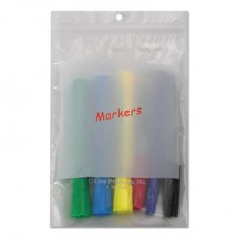 """Write-On Poly Bags, 2 mil, 5"""" x 8"""", Clear, 1,000/Carton"""